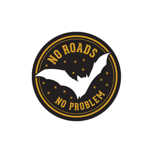No Roads, No Problem Sticker