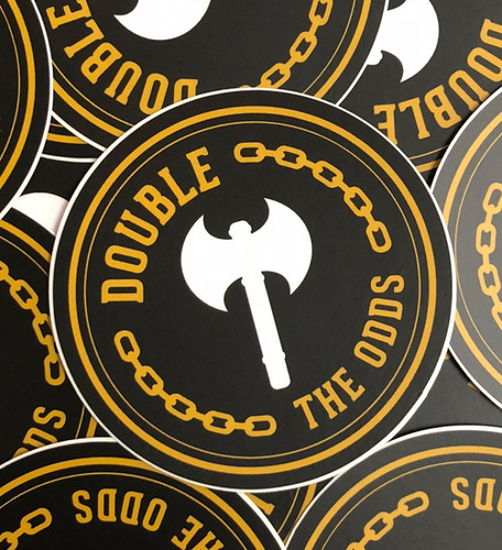 Double the Odds Sticker