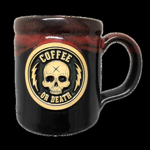Coffee or Death Red/Black Coffee Mug by Seventh.Ink
