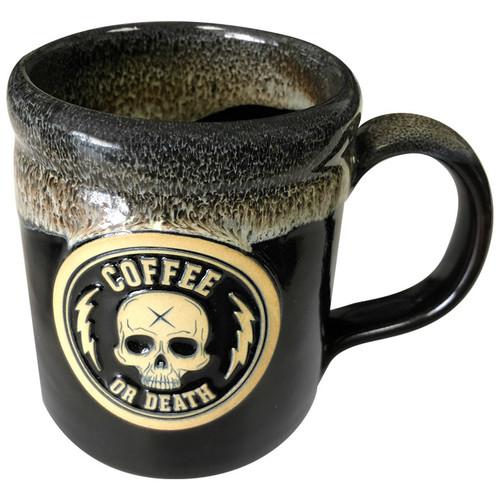 Coffee or Death Mocha/Black Coffee Mug