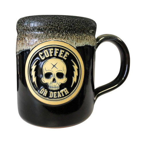 Coffee or Death Mocha/Black Coffee Mug