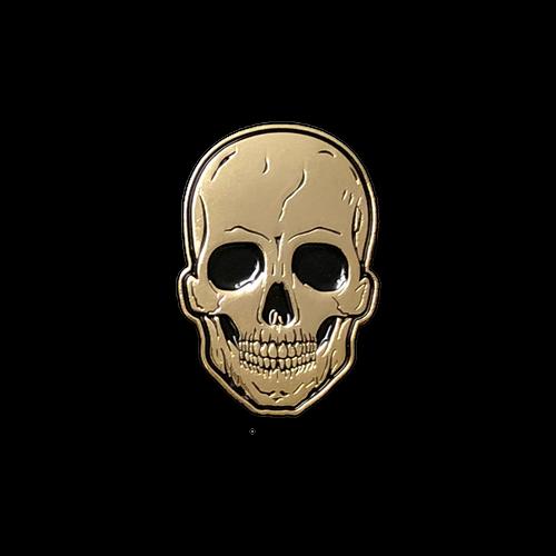 Gold Skull Enamel Pin by Seventh.Ink