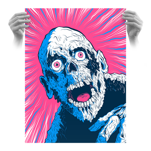 "Tarman Hypno Brains ""Bubblegum"" Fluorescent AP Screen Print (Very Limited)"
