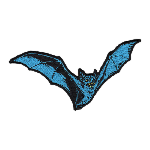 Large Teal Bat Patch by Seventh.Ink