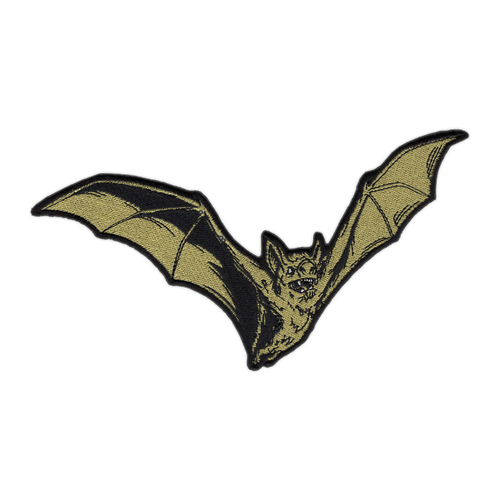 Large Gold Bat Patch by Seventh.Ink