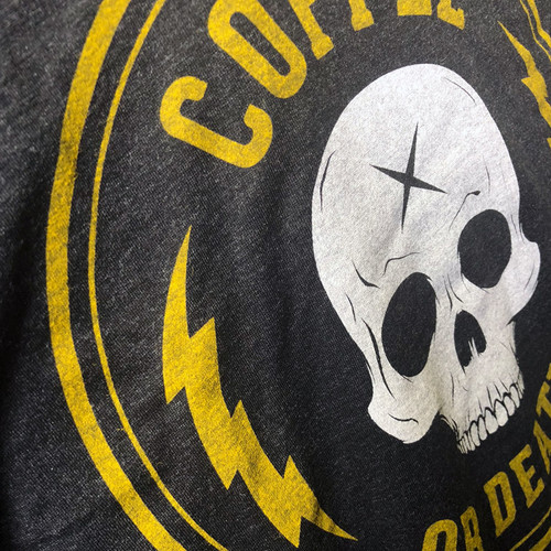 Coffee or Death racerback tank by Seventh.Ink