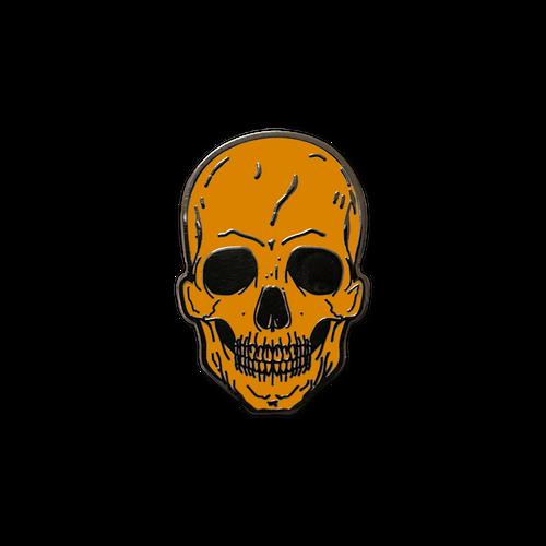 Orange Skull Enamel Pin by Seventh.Ink
