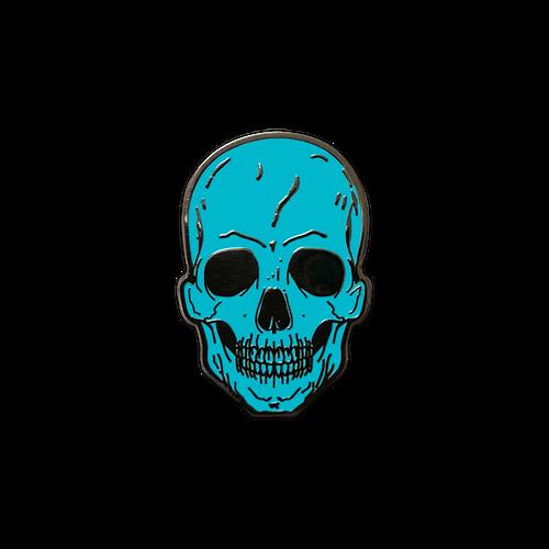 Teal Skull Enamel Pin