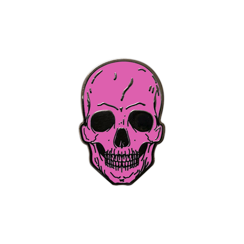 Pink Skull Enamel Pin