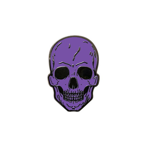 Purple Skull Enamel Pin