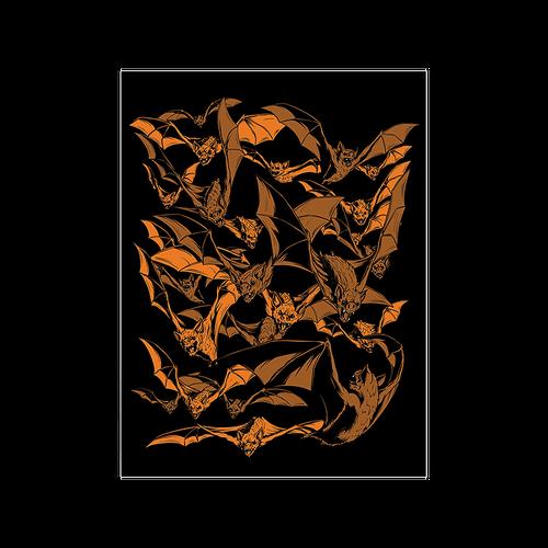 9x12 Bats! Screen Print