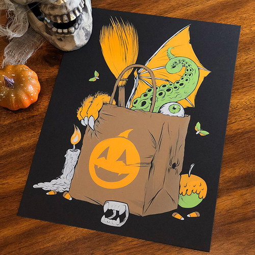 9x12 Trick or Treat Screen Print