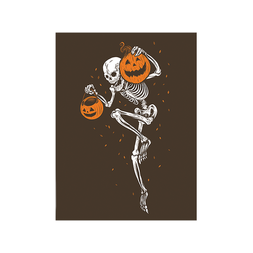 9x12 Night of the Pumpkin Chocolate Variant Screen Print