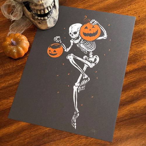 9x12 Night of the Pumpkin Steel Grey Variant Screen Print