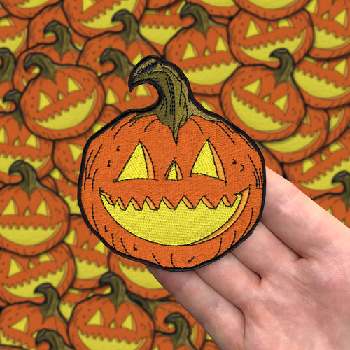 Large Jack O Lantern Patch
