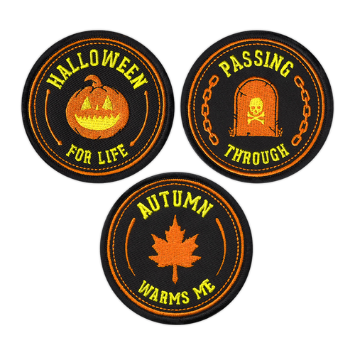 Halloween Embroidered Patch Badge Set by Seventh.Ink