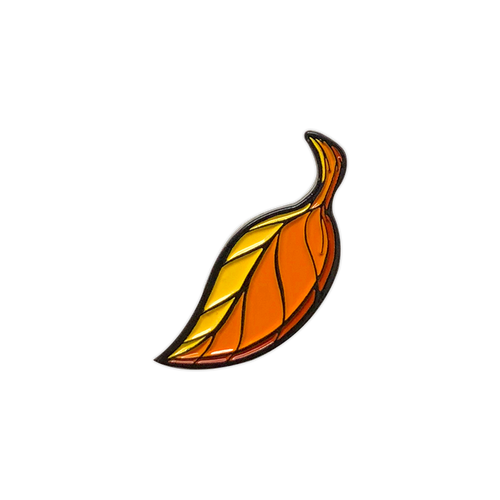 Falling Leaf Enamel Pin by Seventh.Ink