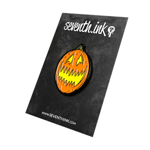 Scary Jack O Lantern Enamel Pin