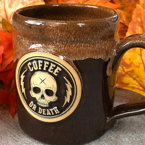 Coffee or Death Autumn Edition Brown/Cinnamon Coffee Mug