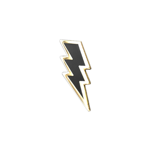 Lightning Bolt Enamel Pin by Seventh.Ink