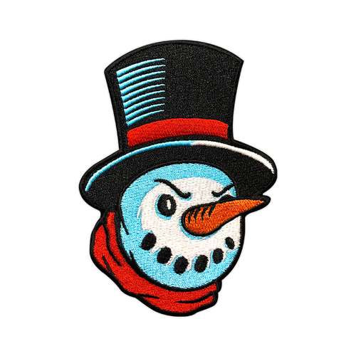 Dapper Angry Snowman Patch by Seventh.Ink