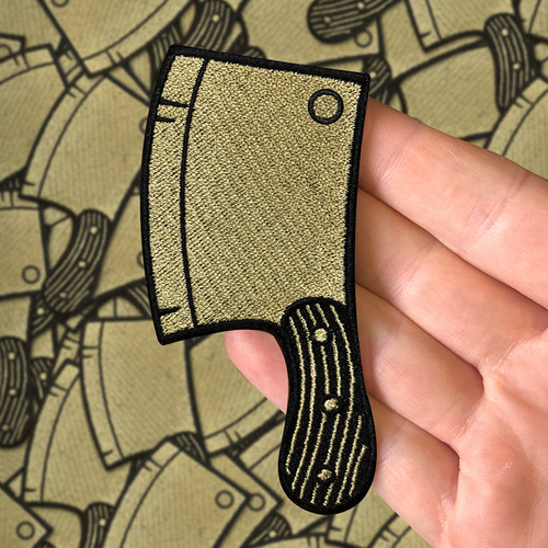 Gold Cleaver Patch by Seventh.Ink