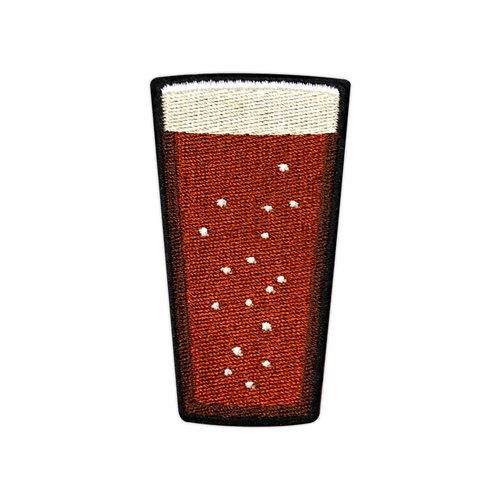 Red Beer Pint Patch