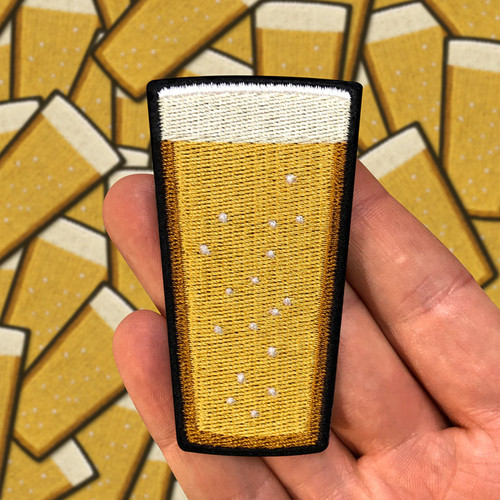 Pilsner Beer Pint patch by Seventh.Ink