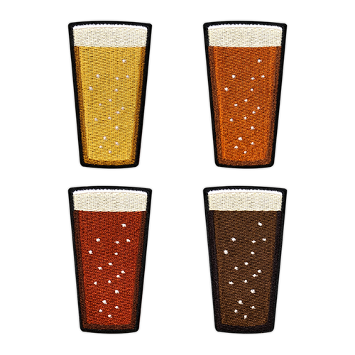 Beer Pint patch set by Seventh.Ink