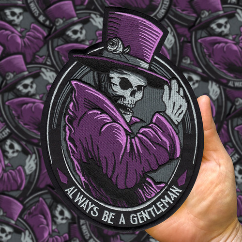 "Huge Gentleman Ghost 9"" Back Patch by Seventh.Ink"