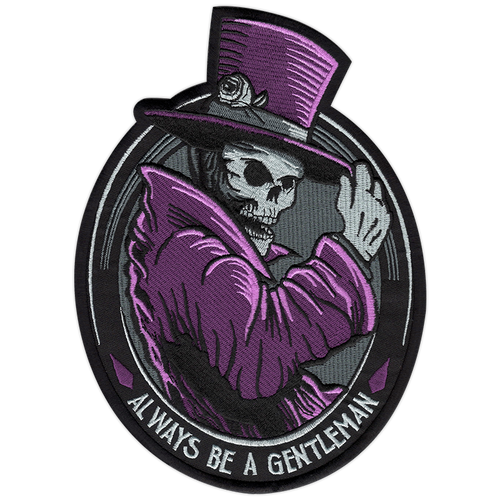 """Huge Gentleman Ghost 9"""" Back Patch by Seventh.Ink"""