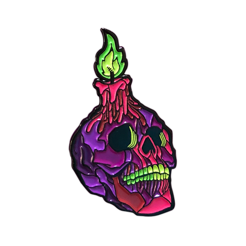 Xanion (Sorcerer) Doom Skull Pin by Seventh.Ink