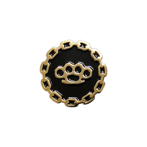 Brass Knuckles Gold Pin