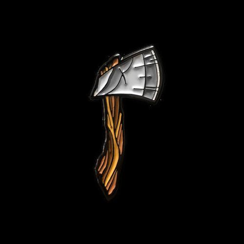 Hatchet Enamel Pin by Seventh.Ink