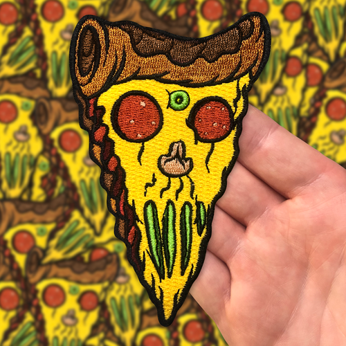 Pizza Skull  Patch by Seventh.Ink