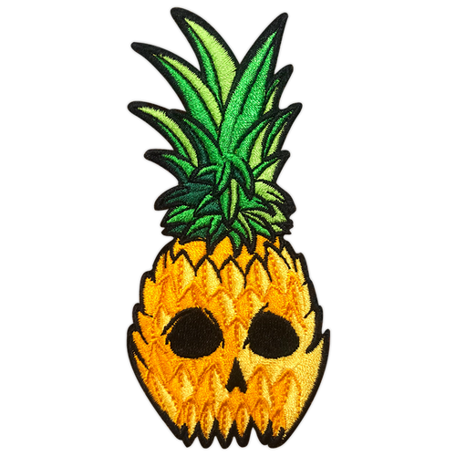 Pineapple Skull  Patch by Seventh.Ink