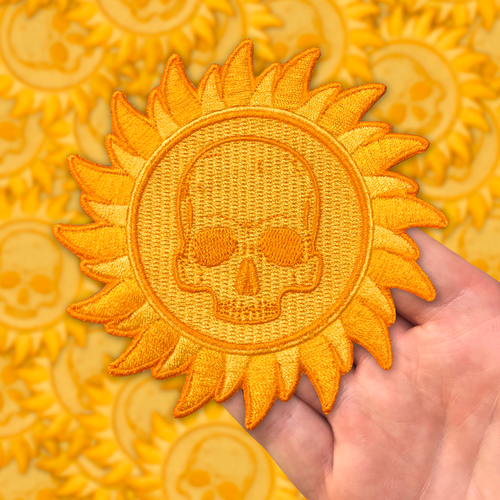 Sun Skull  Patch by Seventh.Ink