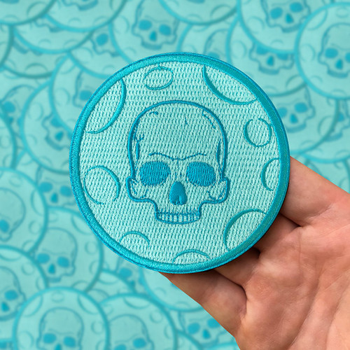 Moon Skull Embroidered Patch