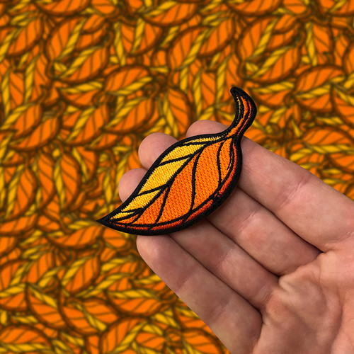 Leaf Embroidered Patch by Seventh.Ink