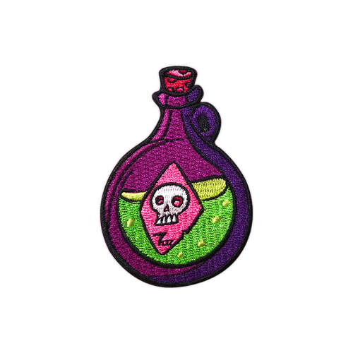 Round Potion Embroidered Patch by Seventh.Ink