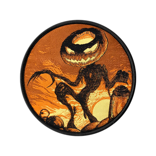 The Pumpkin King Woven Patch by Seventh.Ink