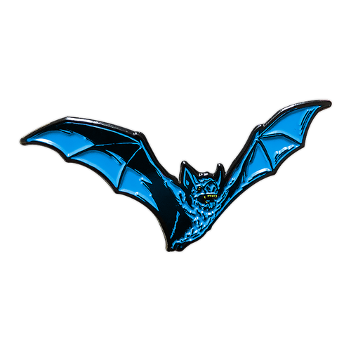 Teal Bat Enamel Pin V2