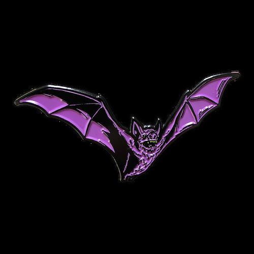 Purple Bat Enamel Pin V2