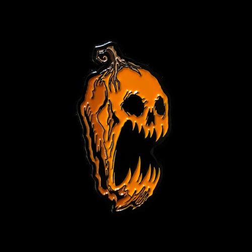 Screaming Pumpkin Enamel Pin V2