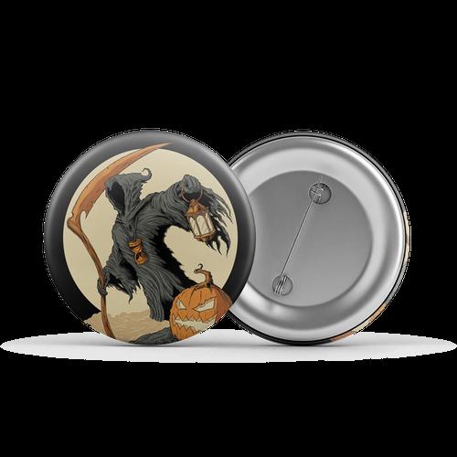 """The Reaper Orange/Cream 1.25"""" Button"""