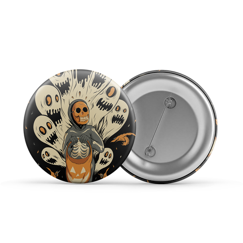 "Ghoulish Fright 1.25"" Button"