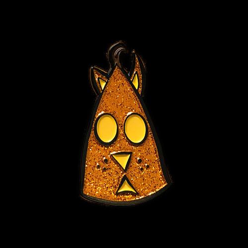 Cat 'O Lantern Glitter Enamel Pin