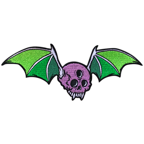 Skull Bat Embroidered Patch by Seventh.Ink