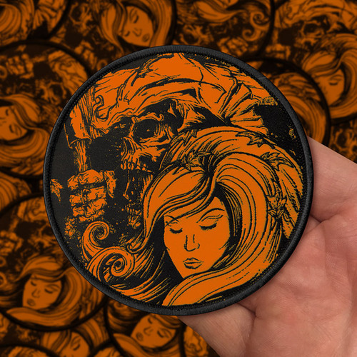 The Fall of Autumn Orange Variant Woven Patch by Seventh.Ink