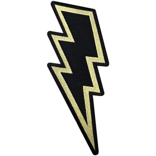 "Gold Lightning Bolt 8"" Back Patch by Seventh.Ink"